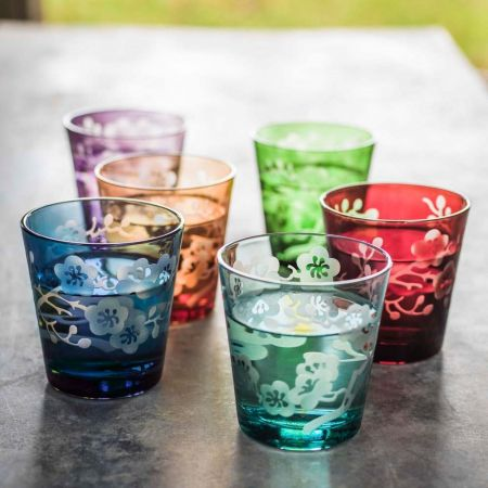 Set of Six Blossom Glasses