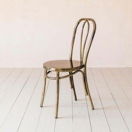 Antique Nickel Café Chair