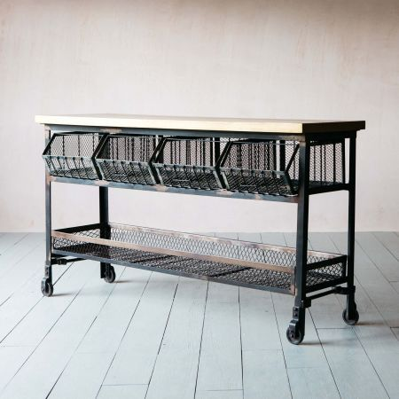 Industrial Kitchen Storage Console