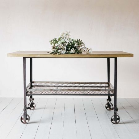 Industial Brass and Iron Table Island