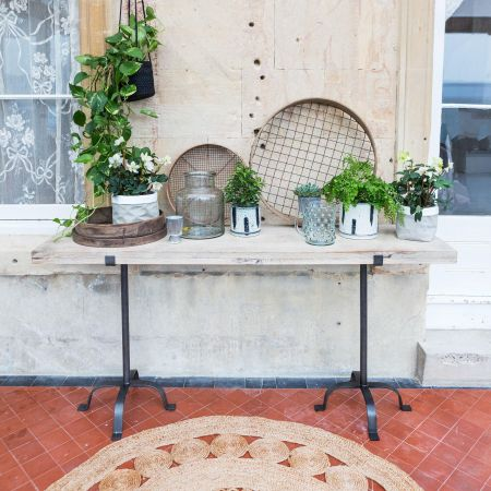 Winston Iron and Wood Console