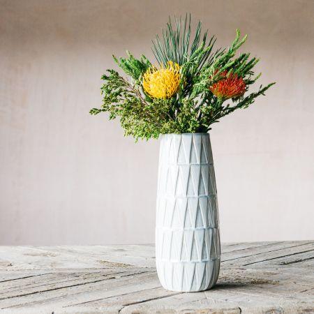Large White Glazed Vase