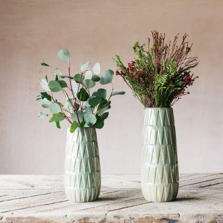 Glazed Green Vases