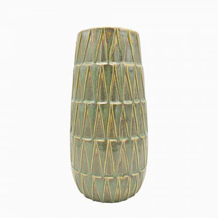 Medium Green Glazed Vase