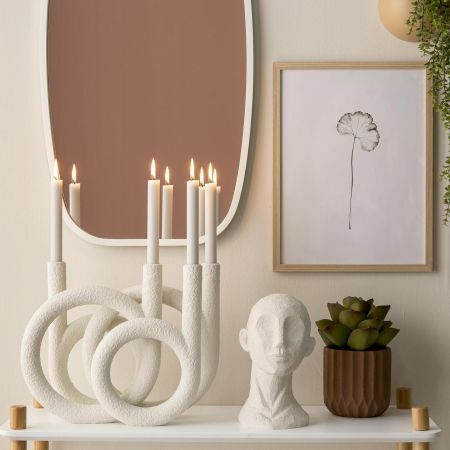 Ivory Rings Candle Holder