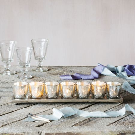 Silver Tea Light Holder