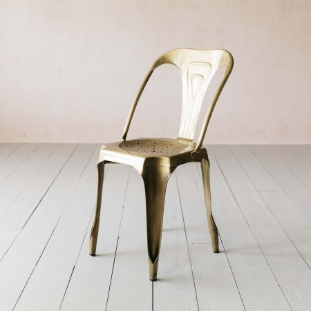 Isaac Brass Chair