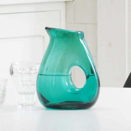 Sea Green Jug with Hole