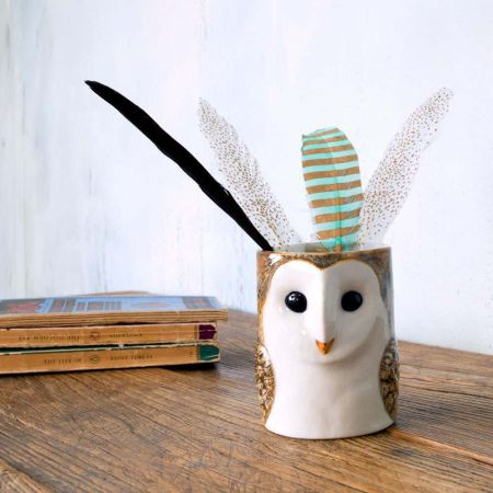 Barn Owl Pencil Pot