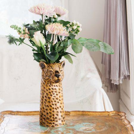Leopard Flower Vase