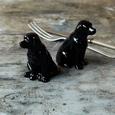 Black Labrador Salt and Pepper Pots
