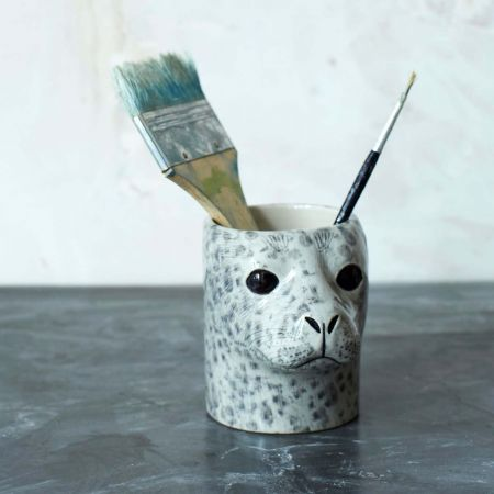 Harbour Seal Pencil Pot - Thumbnail
