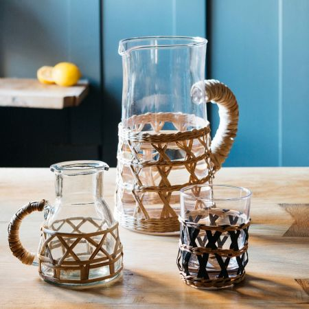 Rattan Weave Pitcher