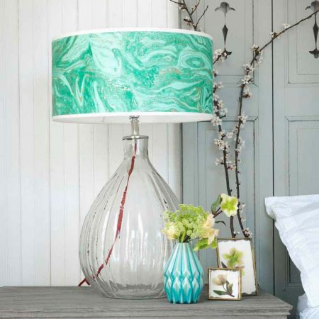 Glass Pumpkin Table Lamp