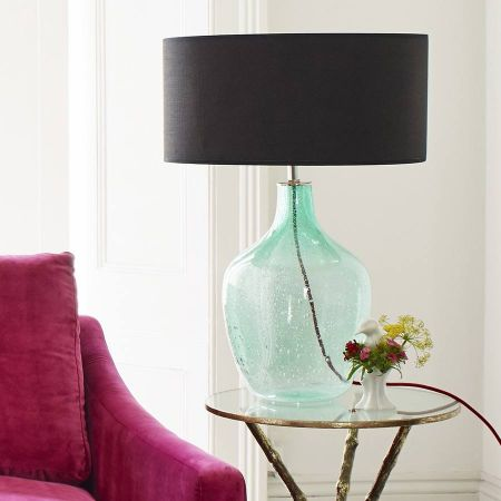 Green Bottle Table Lamp