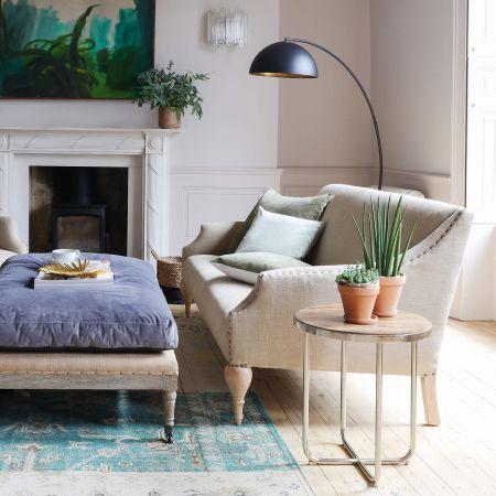 Renée Natural Linen Two and a Half Seater Sofa