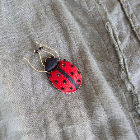 Lily Ladybird Brooch