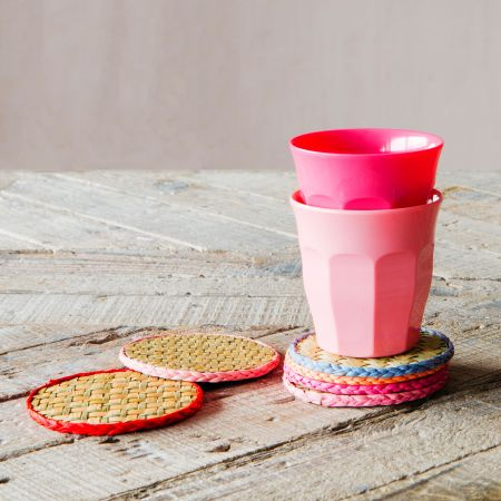 Set of Six Raffia Coasters