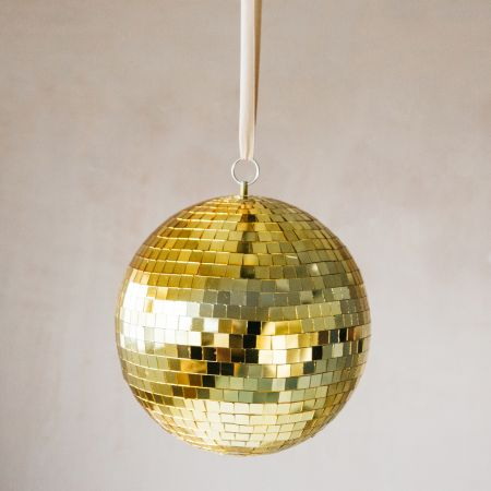 Gold Hanging Disco Ball