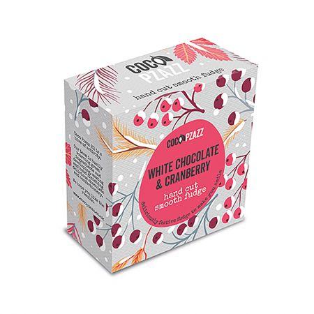 White Chocolate and Cranberry Fudge Box