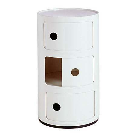 Kartell White Componibili Storage Unit - Thumbnail