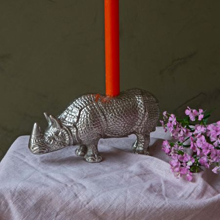 Rolland Rhino Candle Holder