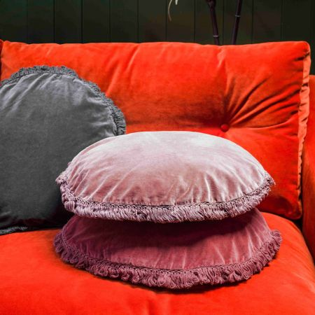 Round Fringed Cushions