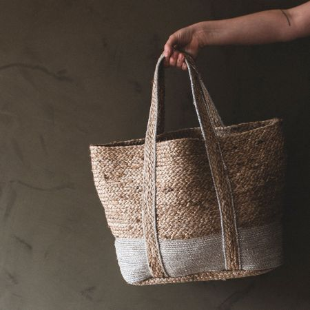 Belle Jute and Lurex Handmade Bag