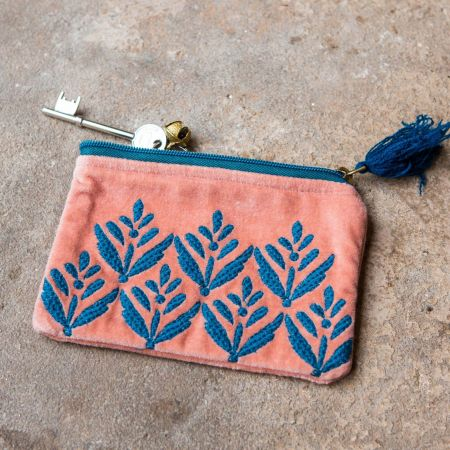 Ava Small Pink and Blue Pouch