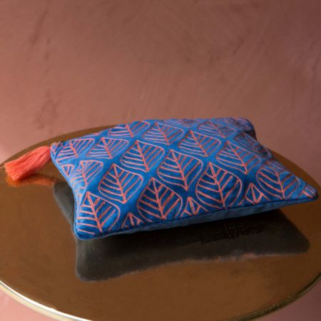 Ava Large Dark Blue and Pink Pouch