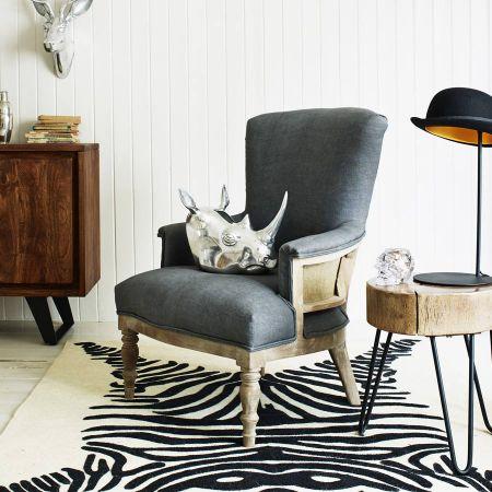 Grey Deconstructed Linen Armchair