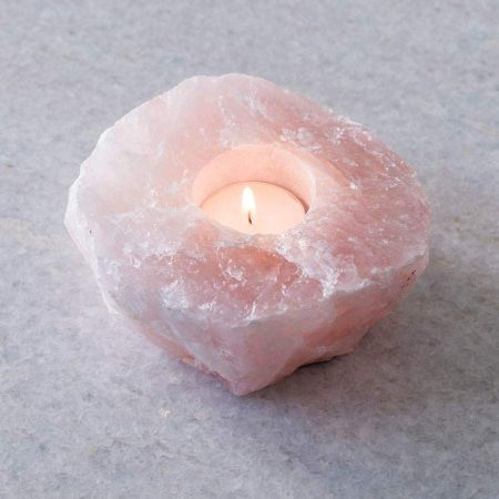 Rose Quartz Tea Light Holder