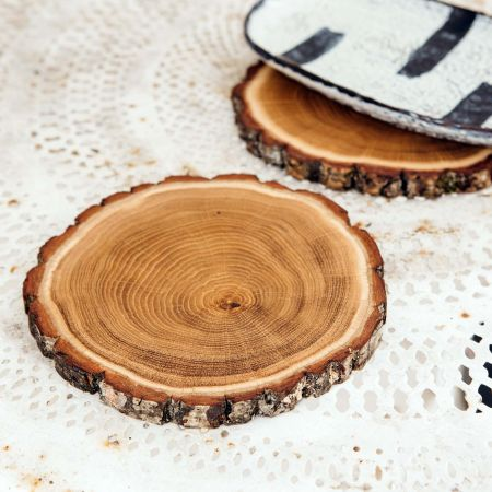 Set of Two Oak Slice Placemats