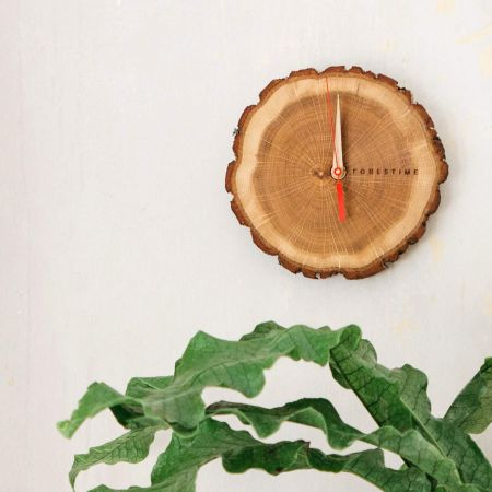 Oak Slice Wall Clock