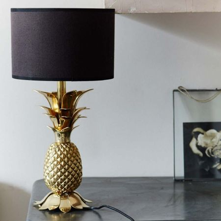 Gold Pineapple Lamp