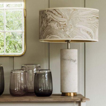 White Marble Shimmering Lamp