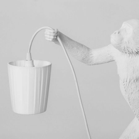 White Monkey Light Lamp Shade