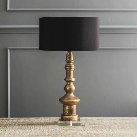 Ardenne Golden Turned Wooden Lamp
