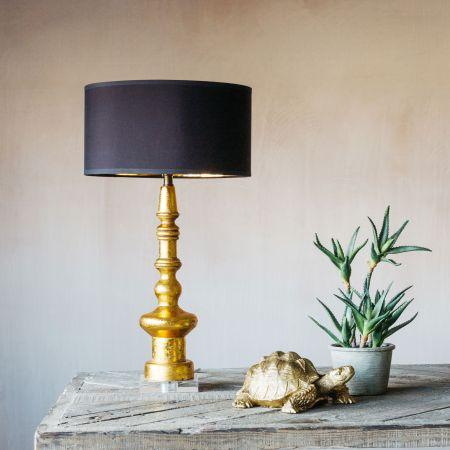 Ardenne Golden Turned Wooden Lamp