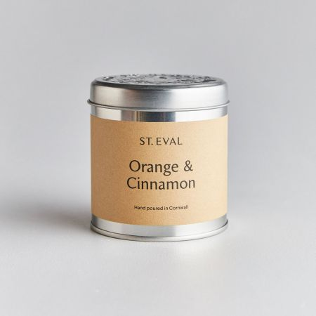 Orange and Cinnamon Tin Candle