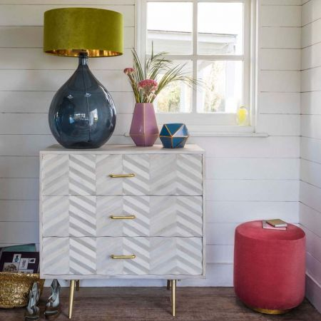 Ariella Chevron Chest of Drawers