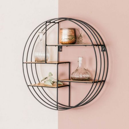 Round Copper Deco Shelf