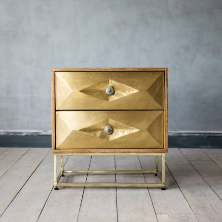 Umberto Brass Bedside Table