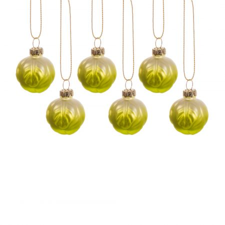 Set of Six Sprout Decorations