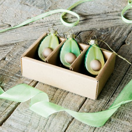 Set of Three Avocado Decorations