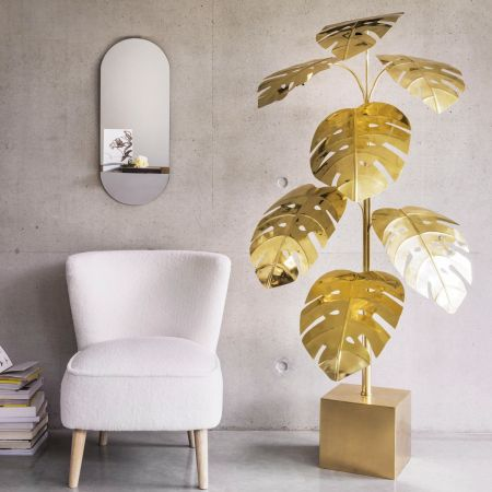 Monstera Brass Floor Lamp