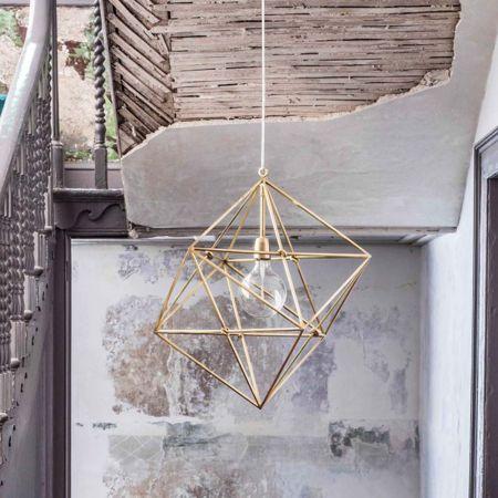 Geometric Brass Pendant
