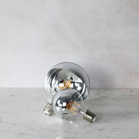 Large Silver Crown Retro Bulbs - Thumbnail