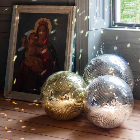 Large Silver Disco Balls