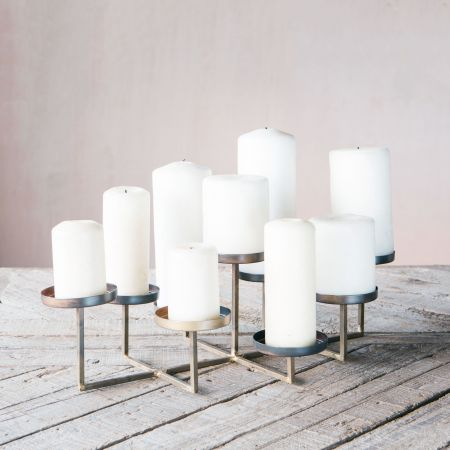 Milan Circle Multi Pillar Candle Holder